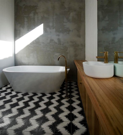 Contemporain Salle de Bain by Auhaus Architecture