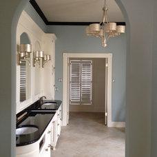 Traditional Bathroom by Bella+Olivia Interiors