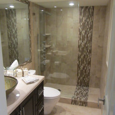 Transitional Bathroom by Corry's Creations and Construction