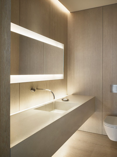 Contemporary Bathroom by ConcreteWorks East. Bathroom Planning  How to Get Your Lighting Right for Beautiful