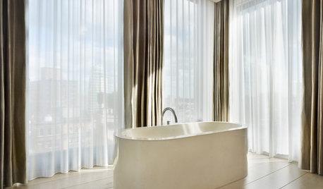 Experten säger: Visst kan du ha gardiner i badrummet!