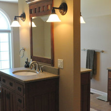 Craftsman Bathroom by Someone's in the Kitchen, Inc.