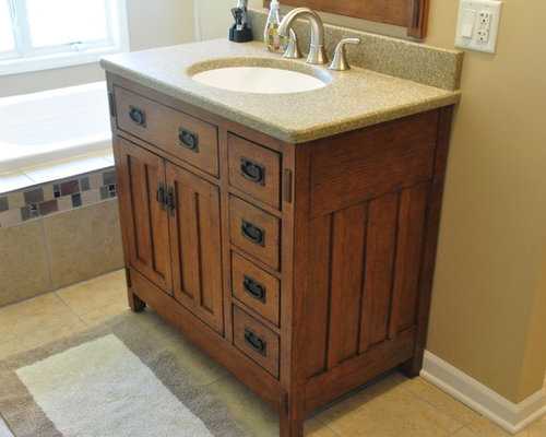Mission style vanity ideas pictures remodel and decor - Mission style bathroom accessories ...