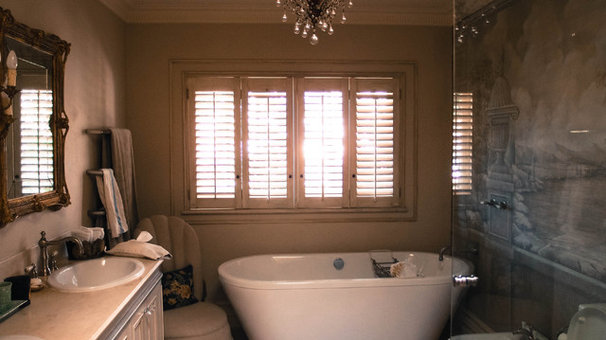 Eclectic Bathroom by Monica Kovacic
