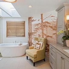 Transitional Bathroom by Kayron Brewer, CKD, CBD / Studio K B