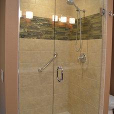Transitional Bathroom by Coast to Coast Design, LLC