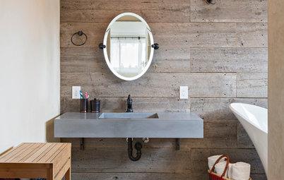 Donnez un charme brut à votre salle de bain grâce à la vasque en béton