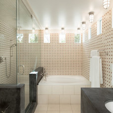 Transitional Bathroom by Dane Cronin Photography