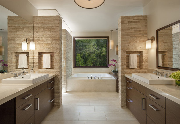 Contemporary Bathroom by Mosaic Architects Boulder