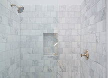 Beautiful tiles in shower.  What type of tiles are these? Name, size?