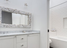 Where are the lights above the mirror from?
