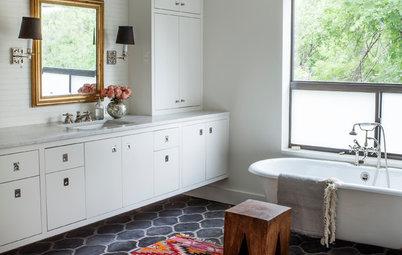 Dark kitchen gets a bright new look - Bathroom makeover practical refreshing ideas ...