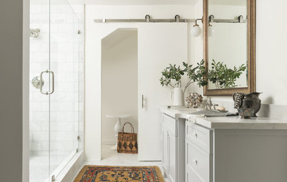 Storage Area Is Transformed Into a Soothing Master Bath