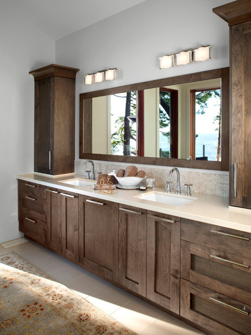 Grey Brown Bathroom Design Ideas Remodels Amp Photos