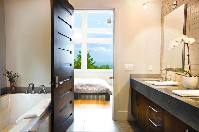 Contemporary Bathroom by Allard & Roberts Interior Design, Inc