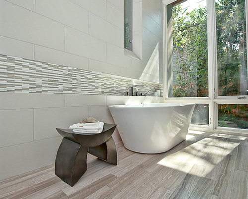 SaveEmail - Grey Wood Tile Floor Houzz