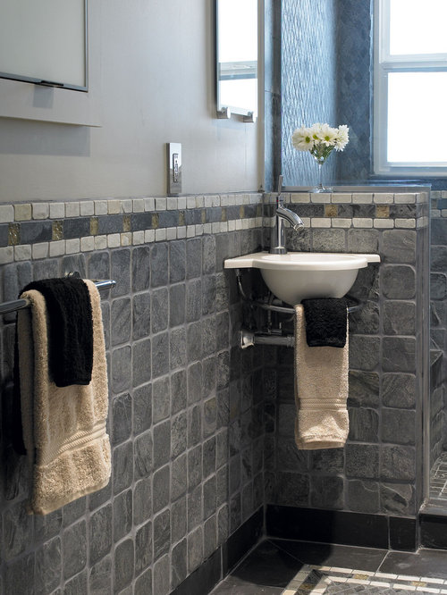 slate tile bathroom home design ideas renovations photos