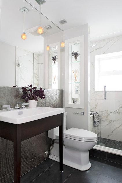 Contemporary Bathroom by Hicks Fine Homes - (Hicks Interiors Inc.)