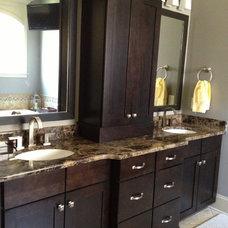 Eclectic Bathroom by Distinctive Designs Inc. Kitchen & Baths