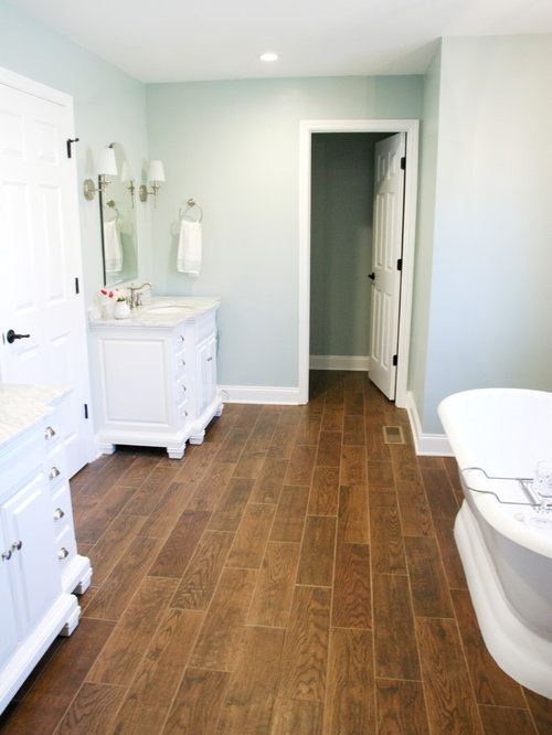 Allen + Roth Bathroom Design Ideas, Remodels & Photos with Gray Tile