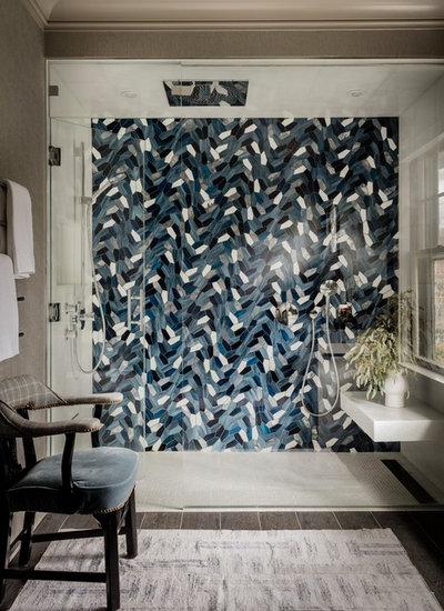 Современная классика Ванная комната by Elms Interior Design