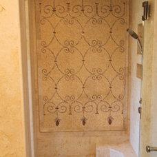 Mediterranean Bathroom by Stone Henge Floor Kitchen Bath