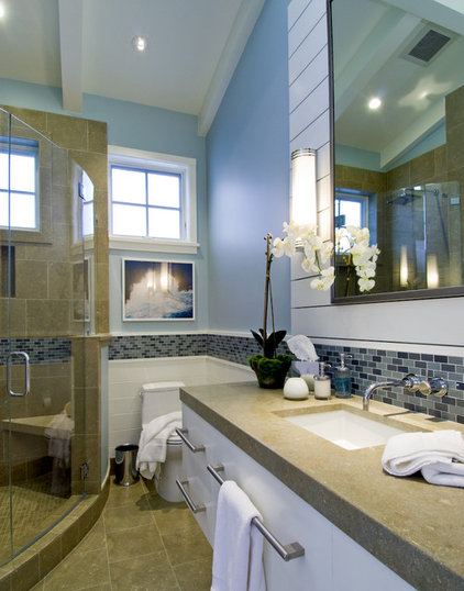 Beach Style Bathroom by Viscusi Elson Interior Design - Gina Viscusi Elson