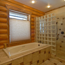 Traditional Bathroom by Mountain Log Homes of CO, Inc.