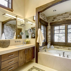Rustic Bathroom by Slifer Designs