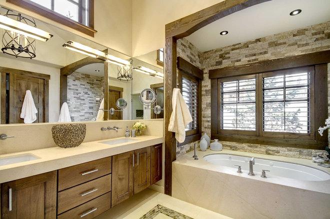 Rustic Bathroom by Slifer Designs