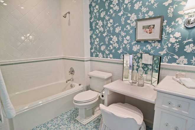 Traditional Bathroom by Jill Wolff Interior Design