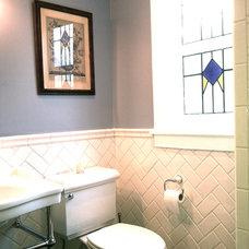 Traditional Bathroom by Landmark Building Inc