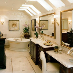 traditional bathroom by Connie McCreight Interior Design
