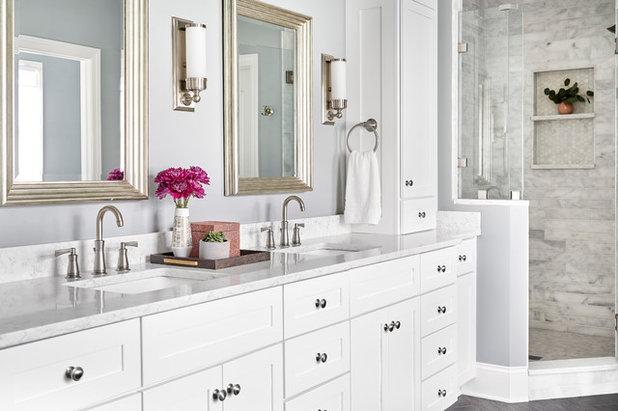 Transitional Bathroom by Beth Haley Design