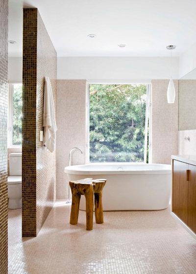 Midcentury Bathroom by Jamie Bush & Co.