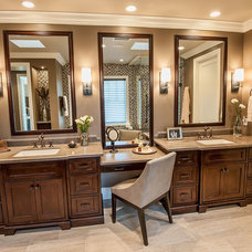 Traditional Bathroom by Jill Wolff Interior Design