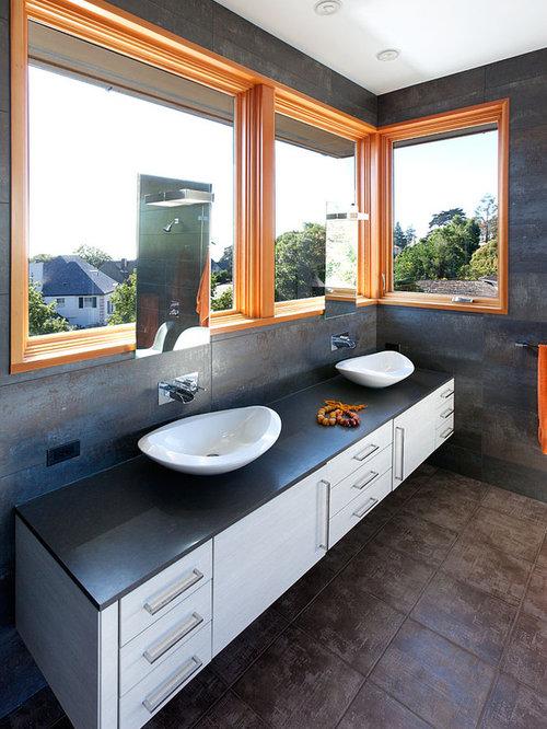 Bathroom Mirror In Front Of Window mirror in front of window | houzz