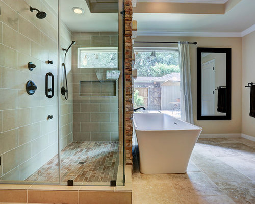 Craftsman houston bathroom design ideas remodels photos for Bathroom designs houston