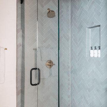 Brick Backsplash + Shower