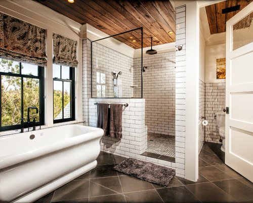 White Subway Tile Bathroom Ideas | Houzz