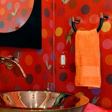 Eclectic Bathroom by Tobi Fairley Interior Design