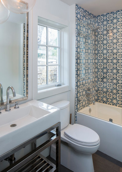Trend Transitional Bathroom by Joseph Fowler Homes