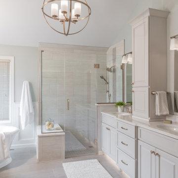 Bright & Elegant Chesterfield Master Bath Remodel