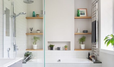 Room Tour: A Long, Thin Bathroom Overhauled With Great Planning