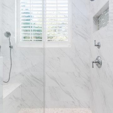 Bright and White Master Bathroom