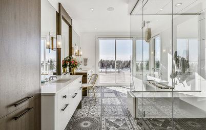 New This Week: 3 Bathrooms With Showstopping Floor Tile