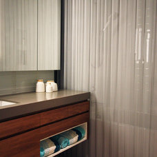 Modern Bathroom by Cascade Coil Drapery