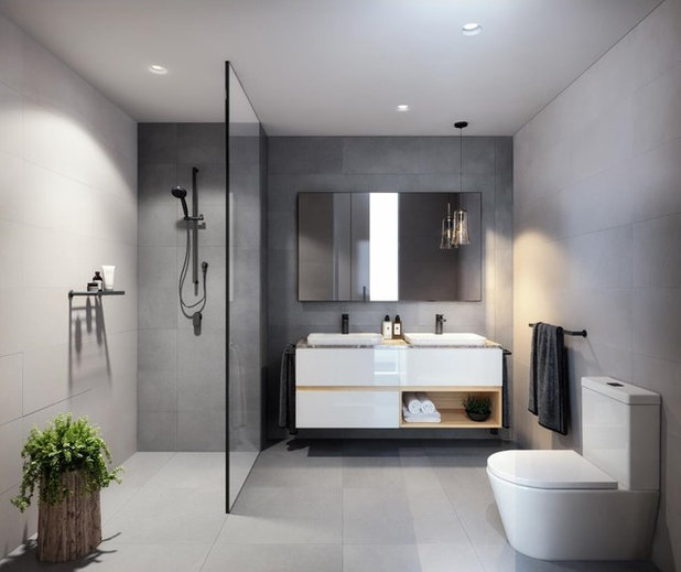 Contemporary Bathroom by Cazam Kitchens
