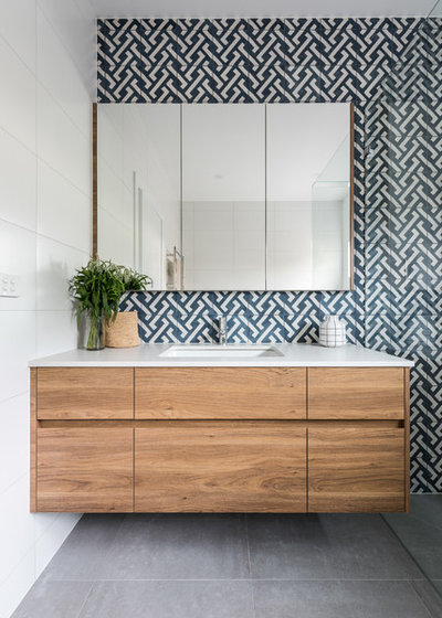 Transitional Bathroom by Williams Cabinets