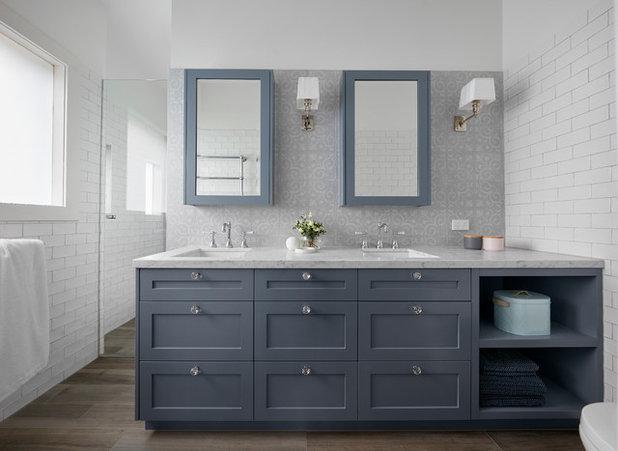 Transitional Bathroom by smarterBATHROOMS+